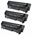 3x Toner Do HP Q2612A 12A 2k Black