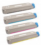 4x Toner Do Oki MC860 9.5/10k CMYK