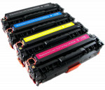 4x Toner Do HP CC530A-533A 3.5/2.8k CMYK