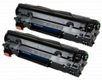 2x Toner Do HP CF283X 83X 2.2k Black