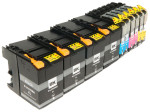 10x Tusz Zamiennik Brother LC-529 LC-525 50/16ml CMYK