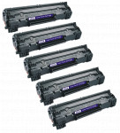 5x Toner Do HP CE285A 85A 2k Black