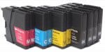 10x TUSZ BROTHER LC-985 ZAMIENNIK 29/20ML CMYK