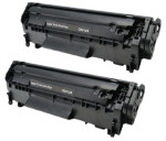 2x Toner Do HP Q2612A 12A 2k Black