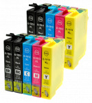 10x Tusz Do Epson T1811-1814 T01811-01814 14/10ml CMYK
