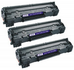 3x Toner Do HP CE285A 85A 2k Black