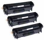 3x Toner Do HP Q2612X 12X 3k Black