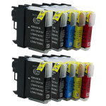 10x Tusz Do Brother LC-980 LC-1100 24/12ml CMYK