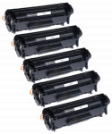 5x Toner Do HP Q2612X 12X 3k Black