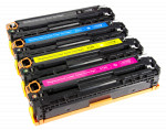 4x Toner Do HP CF210X-213A 2.4/1.8k CMYK