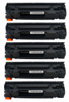 5x Toner Do HP CE278A 78A 2.1k Black