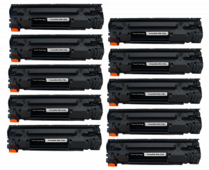 10x Toner Do HP CE278A 78A 2.1k Black
