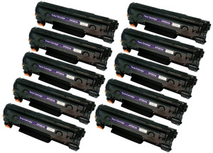 10x Toner Do HP CF283A 83A 1.6k Black