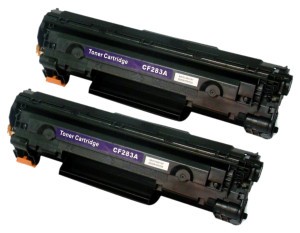 2x Toner Do HP CF283A 83A 1.6k Black