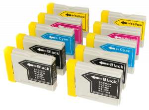 10x Tusz Do Brother LC-970 LC-1000 24/18ml CMYK