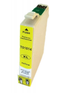 1x TUSZ EPSON T1814 T01814 ZAMIENNIK 10ML YELLOW