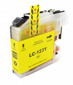 1x Tusz Do Brother LC-123 10ml Yellow