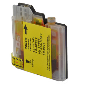 1x TUSZ BROTHER LC-980 LC-1100 ZAMIENNIK 12ML YELLOW