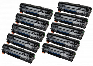 10x Toner Do HP CF283X 83X 2.2k Black