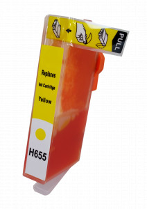 1x TUSZ HP 655 ZAMIENNIK 18ML YELLOW